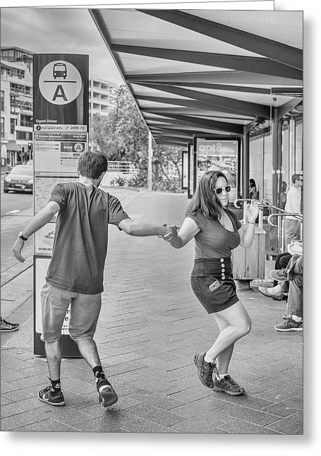 Busstop Boogie No 2 Greeting Card