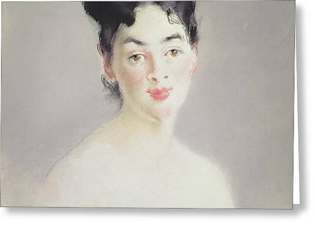 Bust Of A Young Female Nude Greeting Card by Edouard Manet