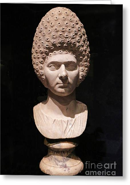 Bust Of Ancient Roman Woman Greeting Card by Kevin McCarthy