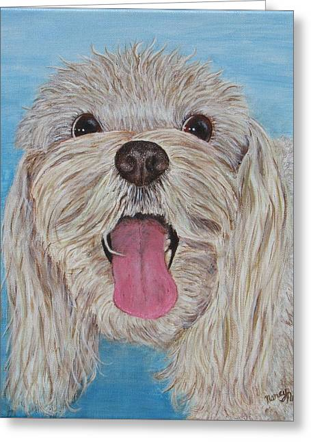 Greeting Card featuring the painting Buster by Nancy Nale