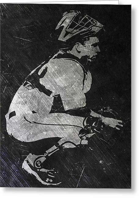 Buster Posey San Francisco Giants Art Greeting Card by Joe Hamilton
