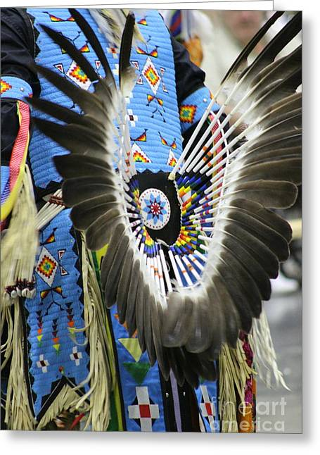 Bustle Of Beads And Feathers Greeting Card by Tammy Miller