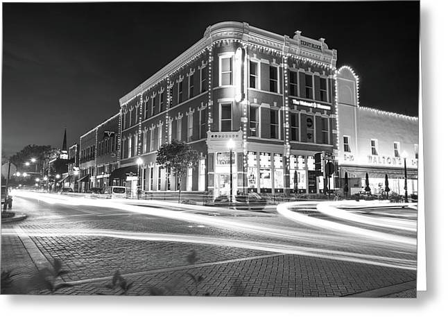 Busy Around Bentonville In Black And White- Northwest Arkansas Greeting Card by Gregory Ballos