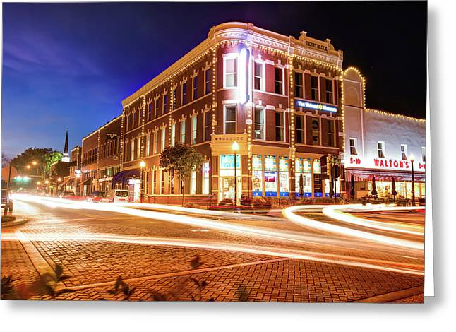 Busy Around Bentonville - Northwest Arkansas Greeting Card by Gregory Ballos
