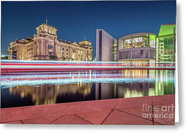 Busy Berlin Greeting Card by JR Photography