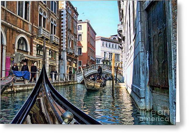 Greeting Card featuring the photograph Busy Canal by Roberta Byram