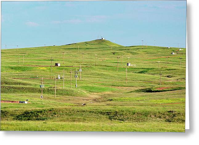 Busy Fields Greeting Card by Todd Klassy