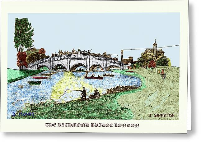 Busy Richmond Bridge Greeting Card