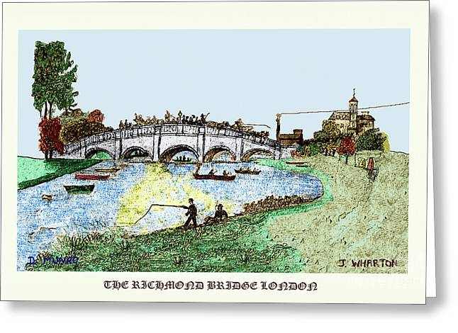 Busy Richmond Bridge Greeting Card