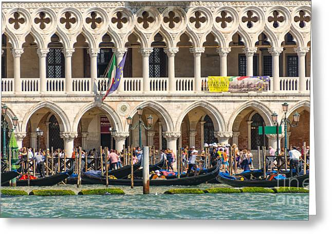 Busy Venice Greeting Card by Svetlana Sewell