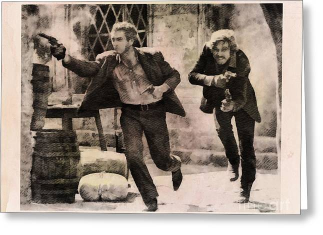Butch Cassidy And The Sundance Kid, Classic Movie Greeting Card