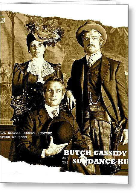 Butch Cassidy And The Sundance Kid, Movie Poster Greeting Card