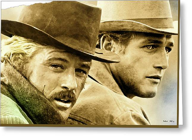 Butch Cassidy And The Sundance Kid     Greeting Card by Thomas Pollart