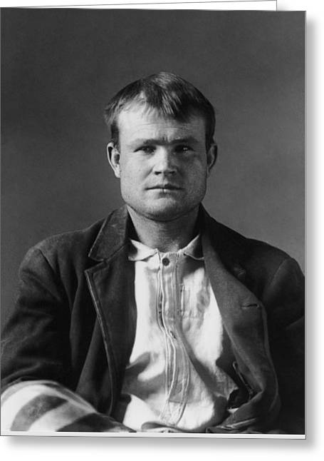 Butch Cassidy Mugshot 1894 Greeting Card by War Is Hell Store