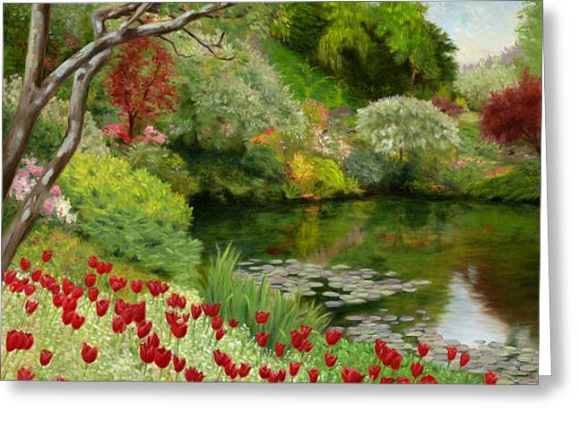 Butchart Gardens Greeting Card by Christa Eppinghaus