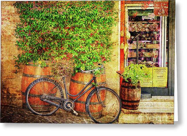 Greeting Card featuring the photograph Butcher Shop Bicycle by Craig J Satterlee