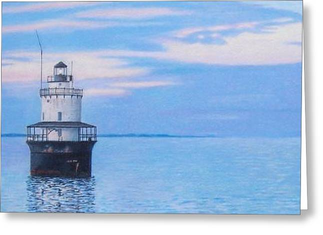 Butler Flats Light Greeting Card by Robert Sewell