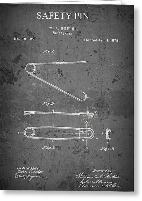 Butler Safety Pin Patent  1878 Greeting Card
