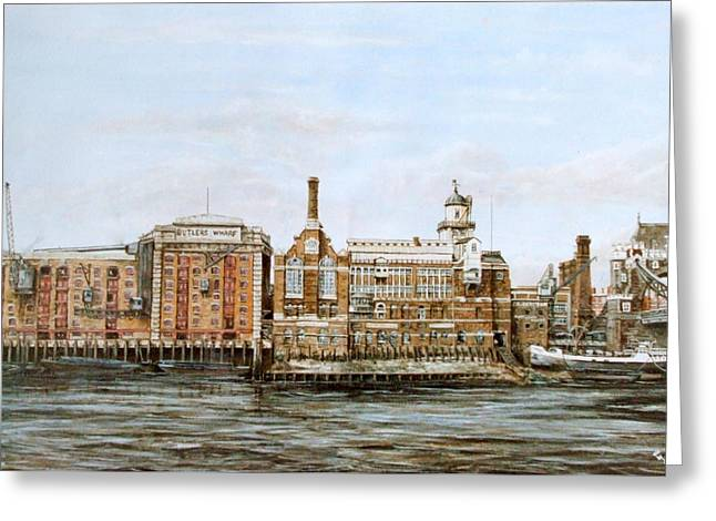 Butlers Wharf And Courage's Brewery Greeting Card by Mackenzie Moulton
