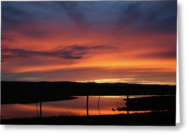 Butte County Sunrise Greeting Card