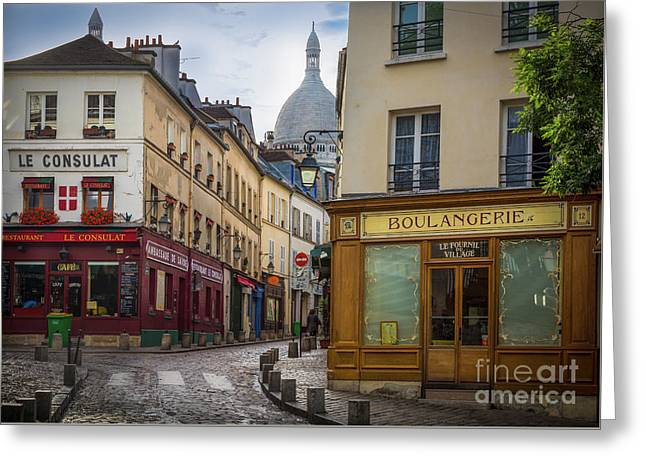 Butte De Montmartre Greeting Card by Inge Johnsson