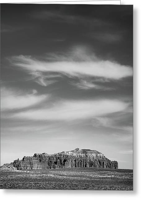 Butte With Clouds Greeting Card by Joseph Smith