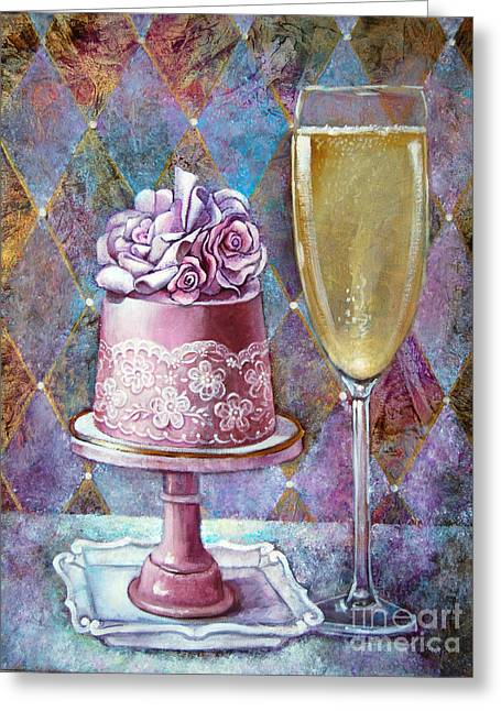 Butter Cream Rose Cake Greeting Card by Geraldine Arata