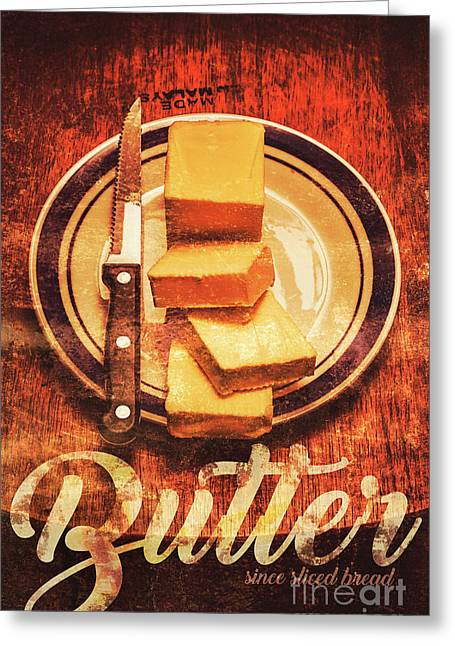 Butter Since Sliced Bread Display Greeting Card