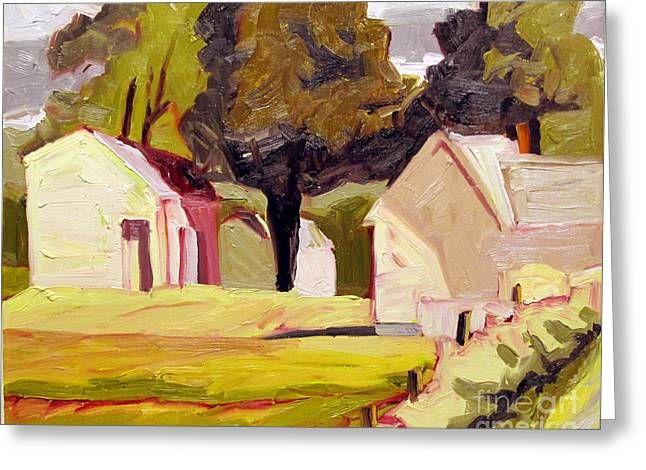 Butter Sunshine Plein Air Framed Greeting Card by Charlie Spear