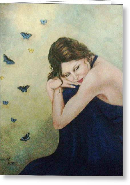 Butterflies 2 Greeting Card by Joan Barnard