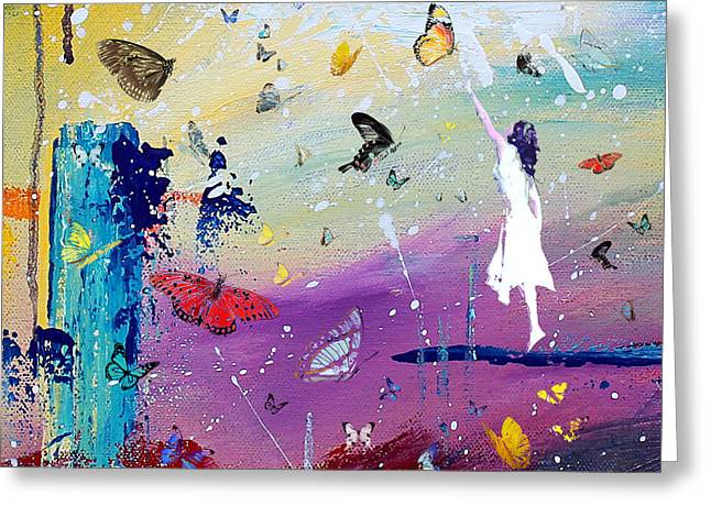 Butterflies And Me Greeting Card