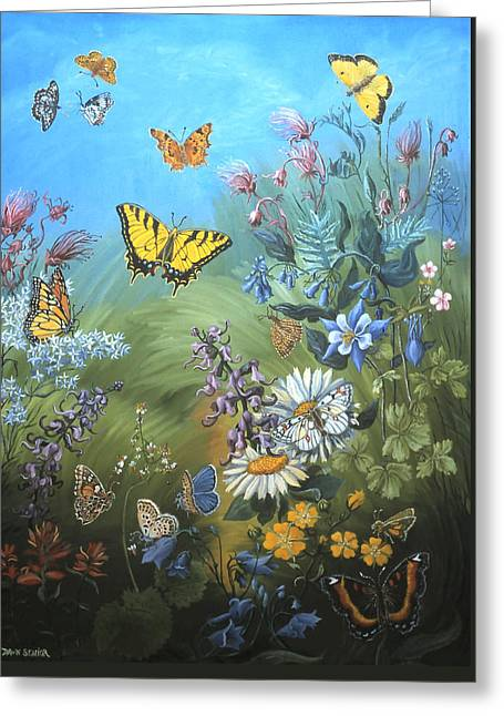 Butterflies And Wildflowers Of Wyoming Greeting Card