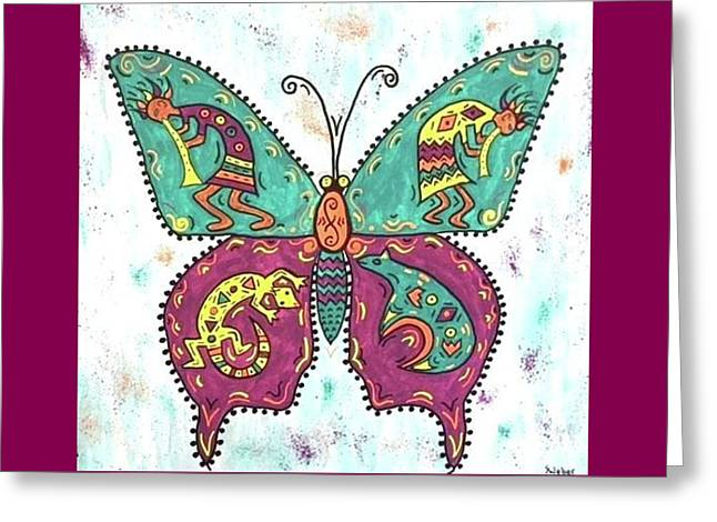 Butterflies Are Free Greeting Card by Susie WEBER