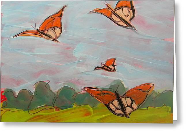 Butterflies Flying 1 Greeting Card