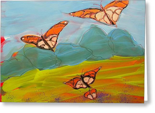 Butterflies Flying 2 Greeting Card