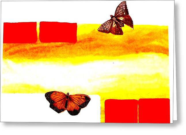 Abstract Butterfly Prints Greeting Cards - Butterflies Greeting Card by Marsha Heiken
