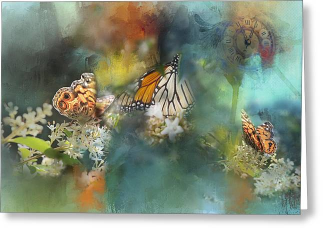 Butterflies On A Spring Day Greeting Card by Toni Hopper