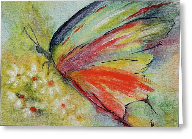 Greeting Card featuring the painting Butterfly 3 by Karen Fleschler