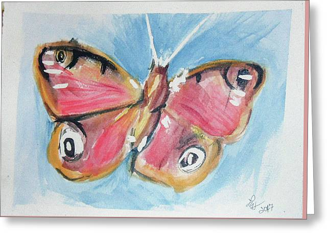 Butterfly 3 Greeting Card by Loretta Nash