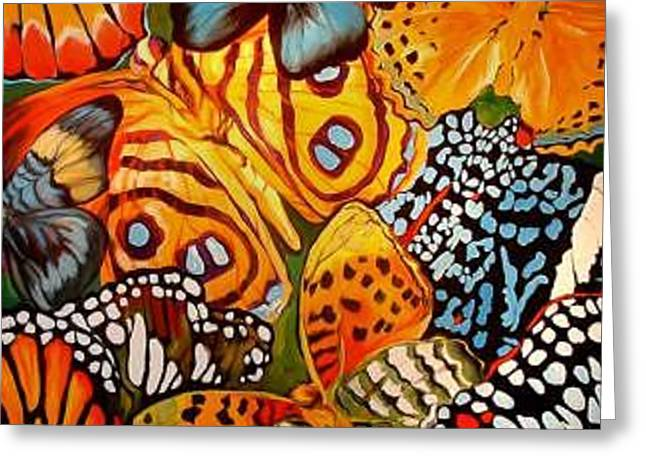 Butterfly Abstract Commission Greeting Card by Marcia Baldwin
