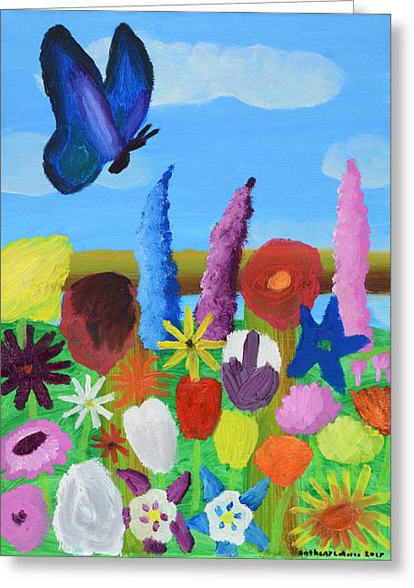Butterfly Greeting Card by Artists With Autism Inc