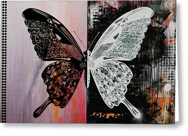 Butterfly Art 45h Greeting Card by Gull G