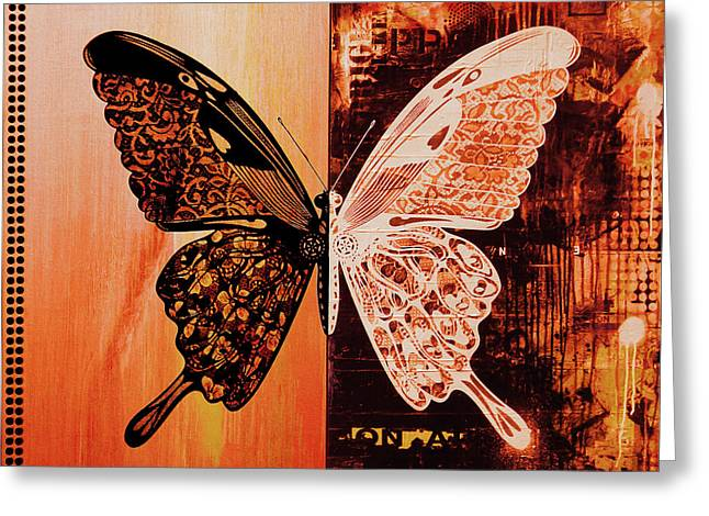 Butterfly Art 88u Greeting Card