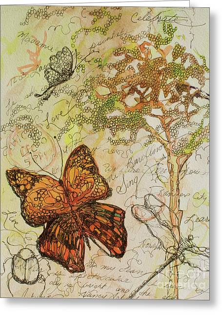 Butterfly Art Journal Greeting Card by Michele Hollister - for Nancy Asbell
