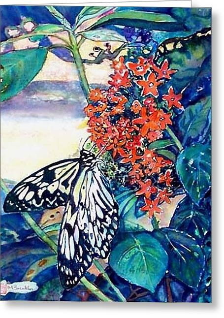 Butterfly At Mac Greeting Card by Norma Boeckler