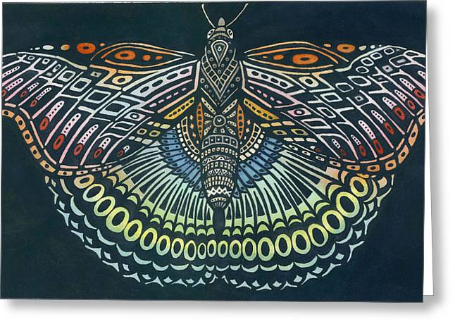 Butterfly Bits Greeting Card by Anne Havard