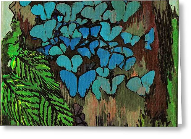 Butterfly Bottom Greeting Card