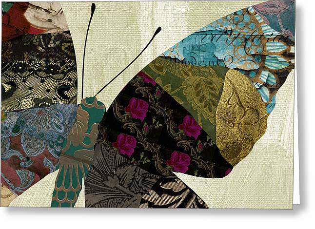 Butterfly Brocade II Greeting Card by Mindy Sommers