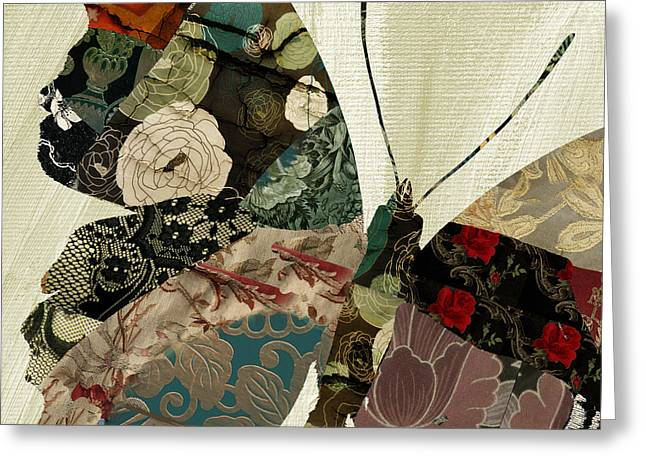 Butterfly Brocade IIi Greeting Card by Mindy Sommers