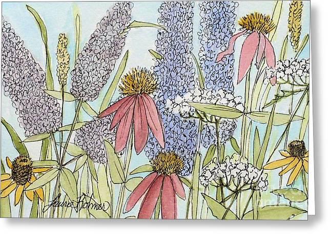 Butterfly Bush In Garden Greeting Card